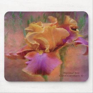 Iris pintado Mousepad Tapetes De Raton