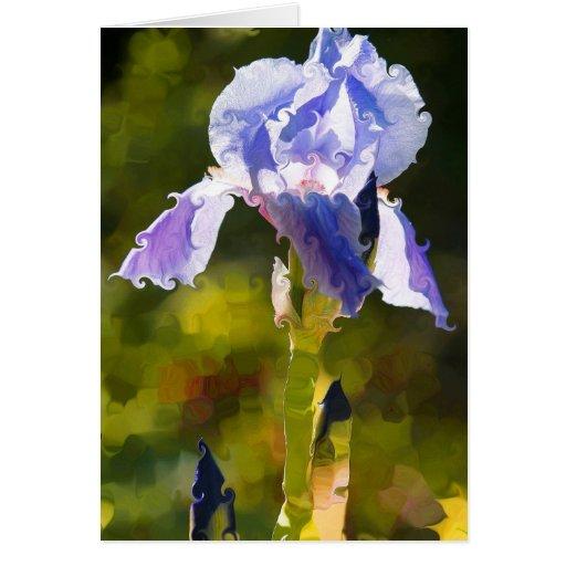 Iris pintado tarjeta de felicitación