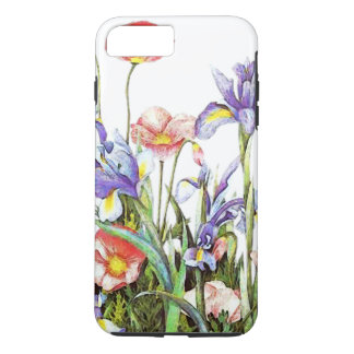 Iris & Poppy Flowers Watercolor Floral iPhone 8 Plus/7 Plus Case