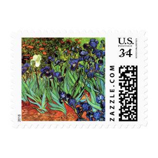 Iris por el sello de la bella arte de Van Gogh