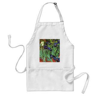 Iris por la bella arte de Van Gogh Delantales