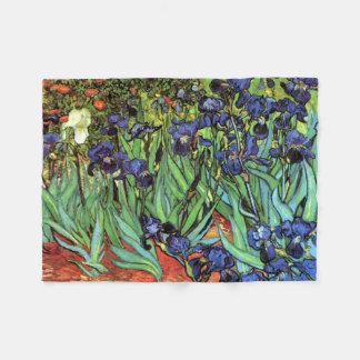 Iris por la bella arte de Van Gogh Manta De Forro Polar