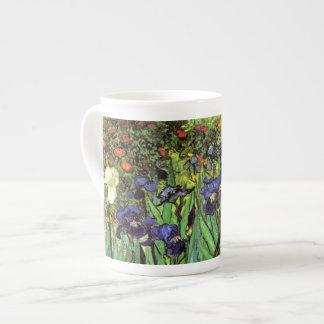 Iris por la taza de China de la bella arte de Van