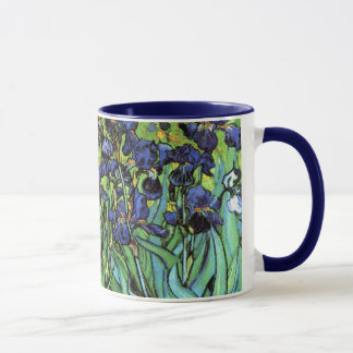 Iris por la taza de la bella arte de Van Gogh
