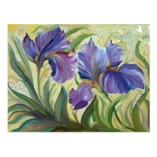 Iris Postcard