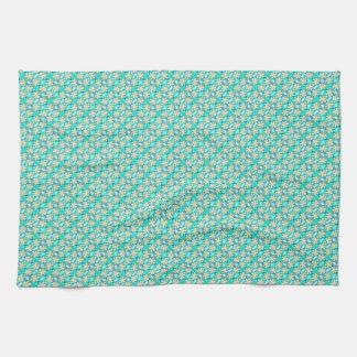 Iris Print Design Kitchen Towel