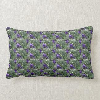 Iris púrpura #3 cojín lumbar