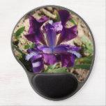 Iris púrpura alfombrillas con gel