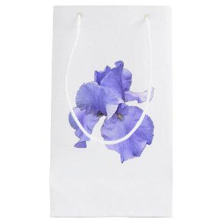 Iris púrpura barbudo alto bolsa de regalo pequeña