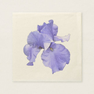 Iris púrpura barbudo alto servilleta de papel