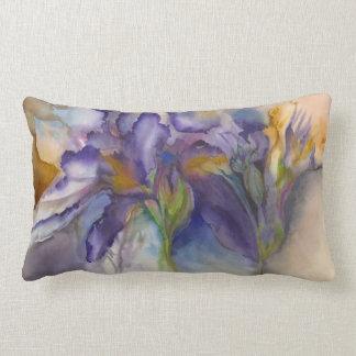 Iris púrpura cojín