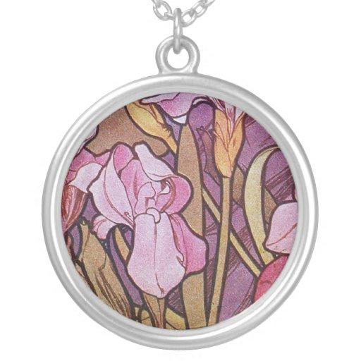 Iris púrpura colgante redondo