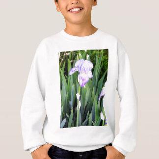 iris púrpura con el rocío moring sudadera