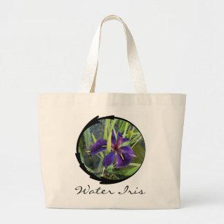 Iris púrpura del agua bolsa lienzo
