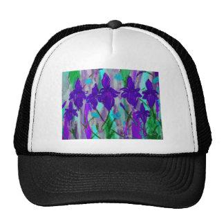 Iris púrpura gorra
