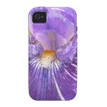Iris púrpura iPhone 4 carcasas