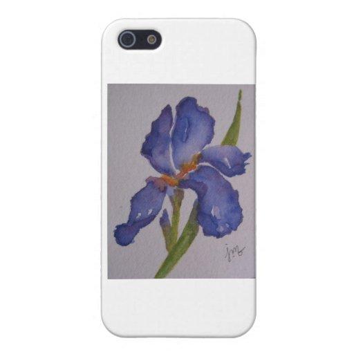 Iris púrpura iPhone 5 coberturas