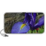 Iris púrpura iPod altavoces