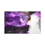 Iris púrpura lienzo envuelto para galerías