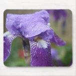 Iris púrpura Mousepad Alfombrillas De Ratones