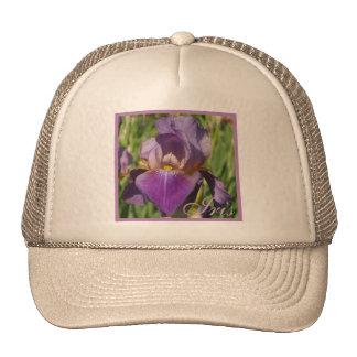 Iris púrpura oscuro de la lavanda gorro de camionero