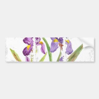 Iris púrpura por EelKat Pegatina De Parachoque
