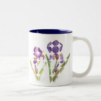 Iris púrpura por EelKat Taza De Café De Dos Colores
