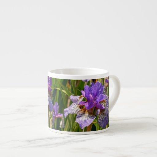 Iris púrpura tazas espresso