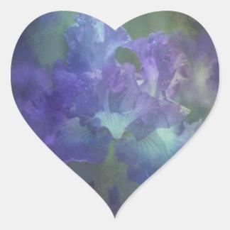 Iris púrpura y azul suave elegante hermoso