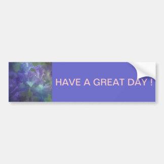 Iris púrpura y azul suave elegante hermoso pegatina para auto