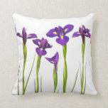 Iris púrpuras - plantilla modificada para requisit cojines