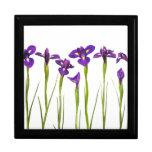 Iris púrpuras - plantilla modificada para requisit joyero cuadrado grande