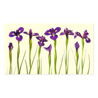 Iris púrpuras - plantilla modificada para requisit plantillas de tarjetas personales