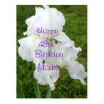 Iris Rebloomer Flower Birthday card- customize Postcard