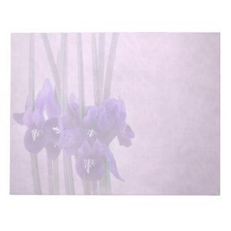 Iris reticulata note pad