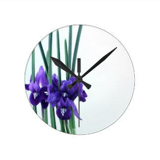 Iris Reticulata Wall Clock
