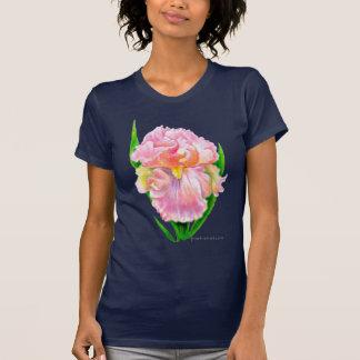Iris rosado (diseño oscuro) camisetas
