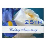 Iris/Rose 25th Wedding Anniversary Invitation