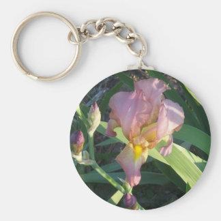 Iris Round button keychain