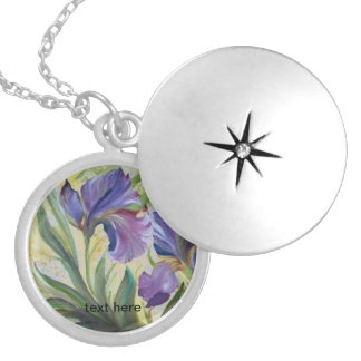 Iris Round Locket Necklace