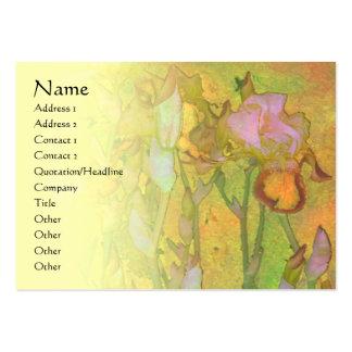 Iris Row 1 Pale Blend Profile Card Large Business Card