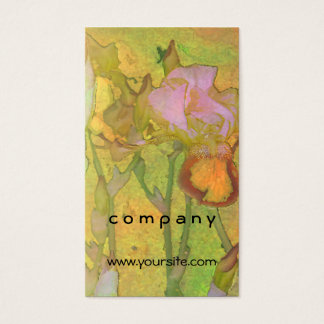 Iris Row Yellow Orange 2 Business Card