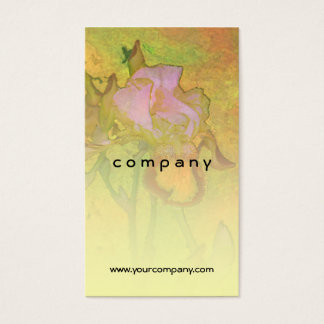 Iris Row Yellow Orange 2 Business Card