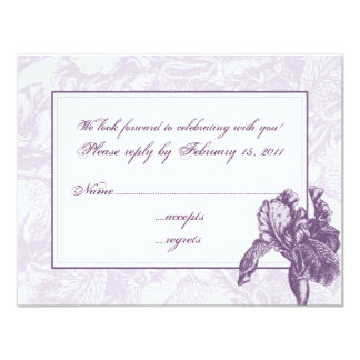 Iris RSVP Card
