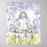 Iris salvaje Botanicals de la meditación del zen d Posters