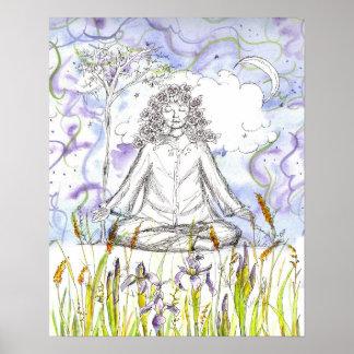 Iris salvaje Botanicals de la meditación del zen d