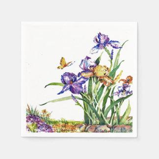 Iris salvajes servilleta de papel