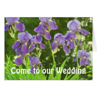 iris scenic, Come to our Wedding Card