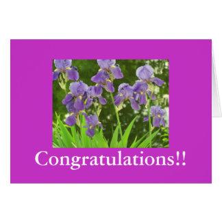 iris scenic, Congratulations!! Greeting Card