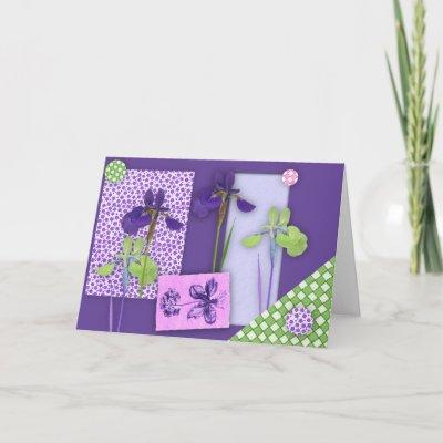 Iris Birthday Card Large Print Zazzle
